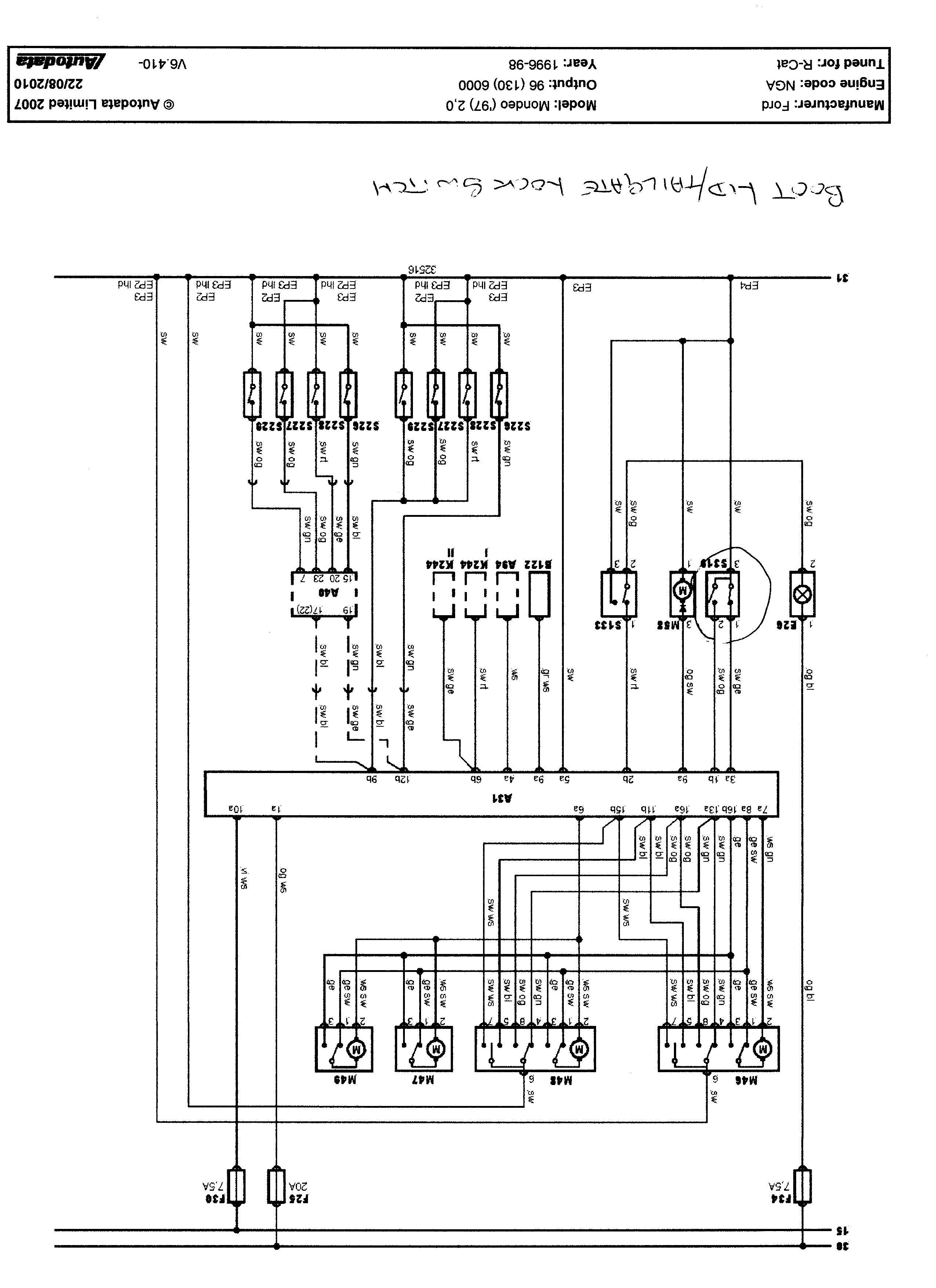 Wiring Diagram - Ford Mondeo    Vignale Club