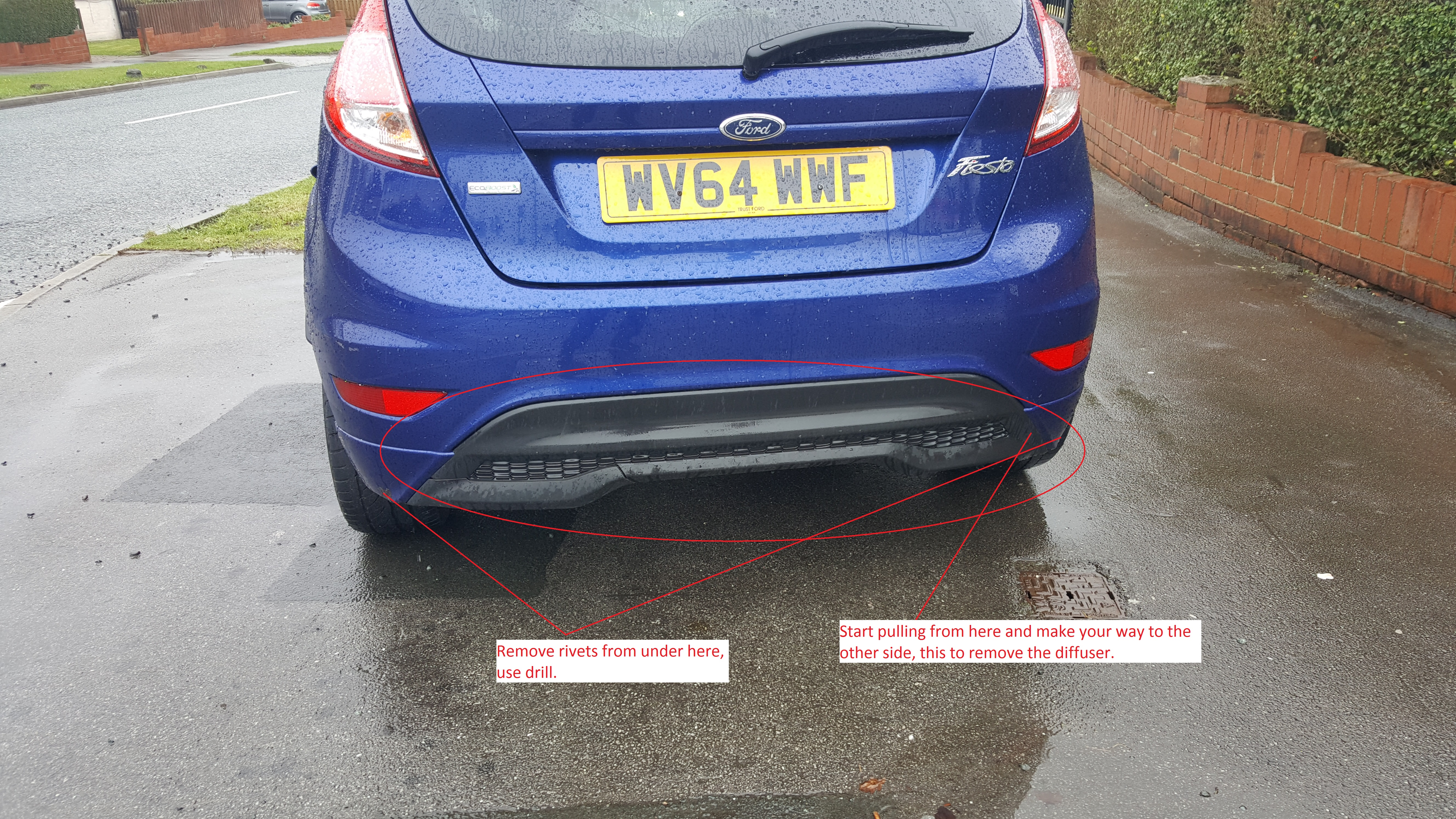 Ford Fiesta Mk7 Rear Diffuser For My Zetec Ford Fiesta Club Ford Owners Club Ford Forums