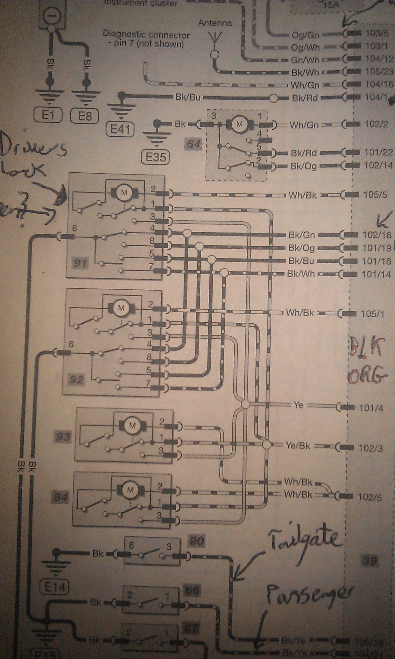Confused! Mk 1.5 wiring on Gem for aftermarket locking kit. - Ford Focus  Club - Ford Owners Club - Ford Forums | Focus Central Locking Wiring Diagram |  | Ford Owners Club