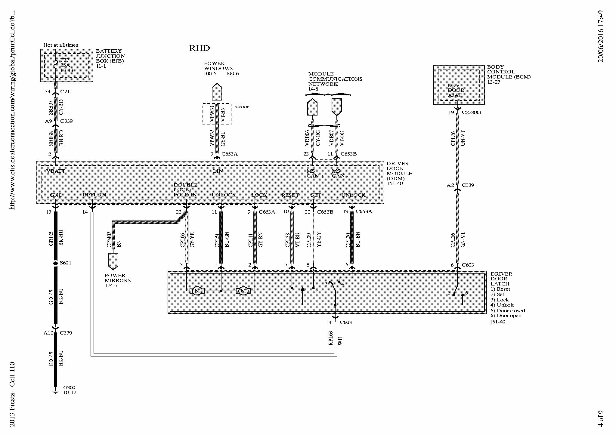 Ford Fiesta Mk7 5 Wiring Diagram