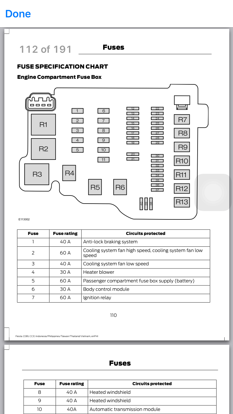 2013 Fiesta Fuse Box Diagram  - Ford Fiesta Club - Ford Owners Club