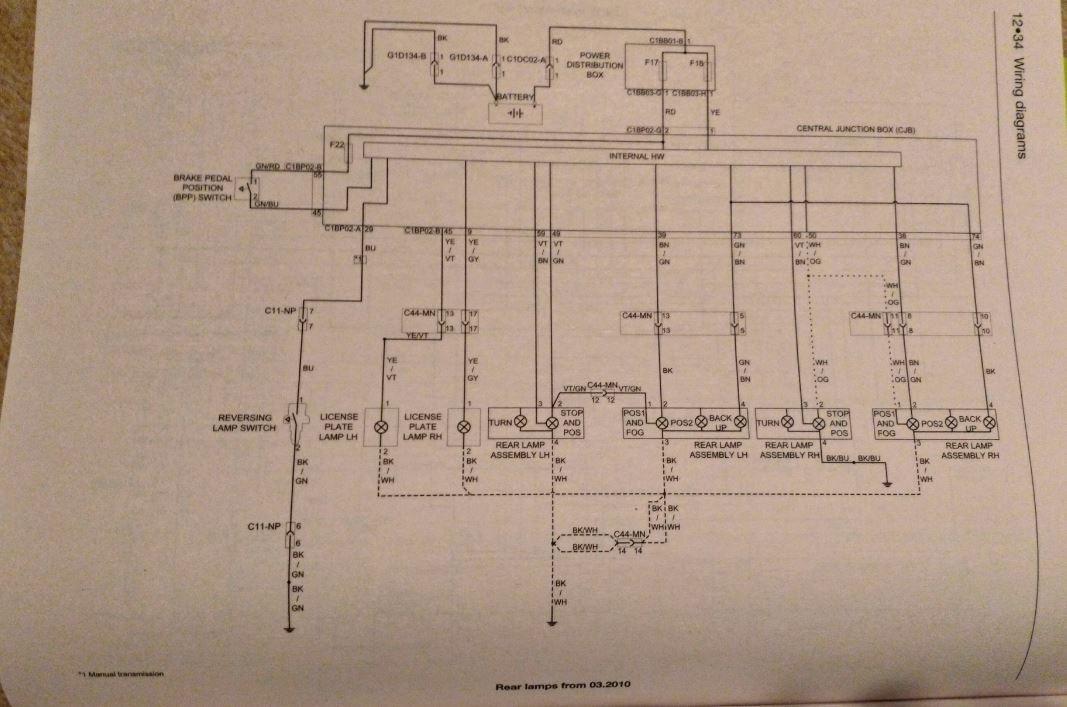 wiring diagrams  rear tailgate loom  ford smax club